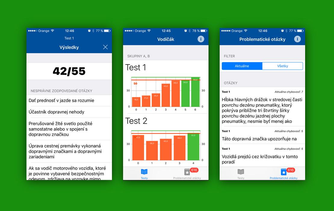 testy na vodicky preukaz aplikacia